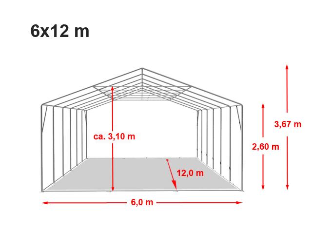 Párty stan Professional XXL 6x12m