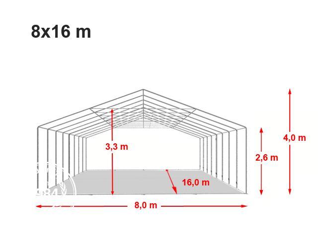 Párty stan Professional XXL 8x16m