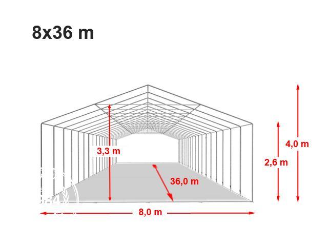 Párty stan Professional XXL 8x36m