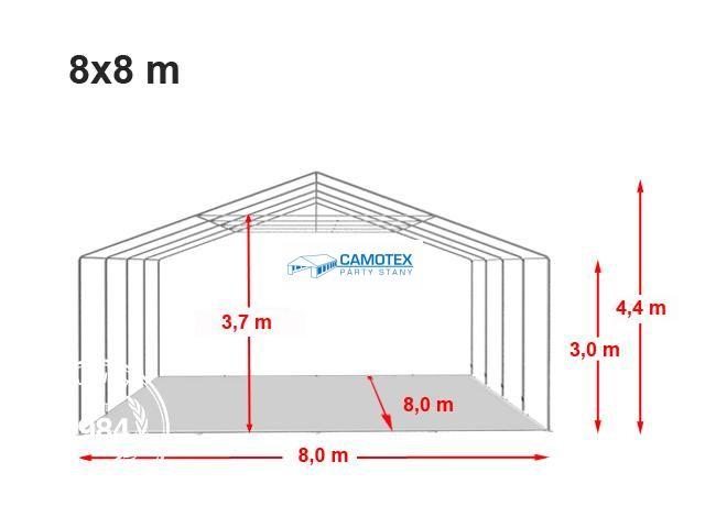 Nosná konstrukce stanu ProfessionalXXL 8x8m, boční výška 3m